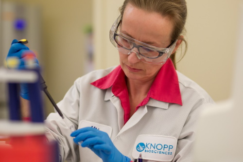Scientist from Knopp Biosciences